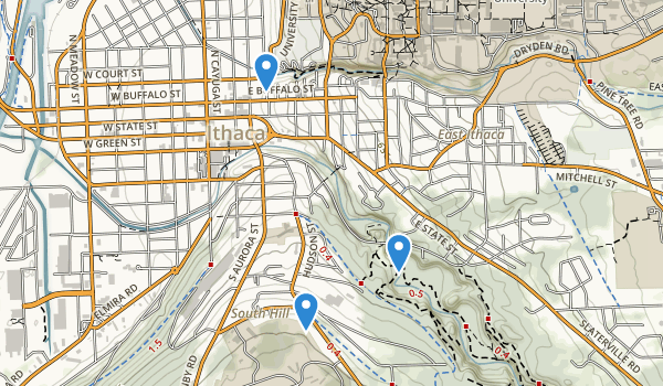 trail locations for South Hill Town Recreation Way