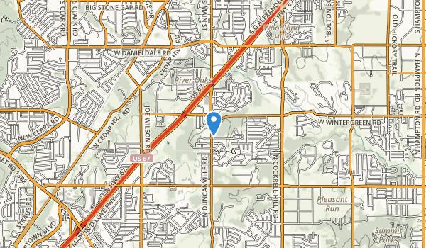 trail locations for Kiva Park