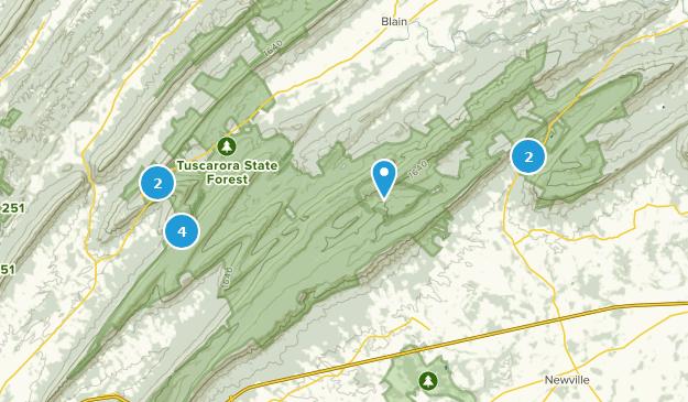 Tuscarora State Forest Map