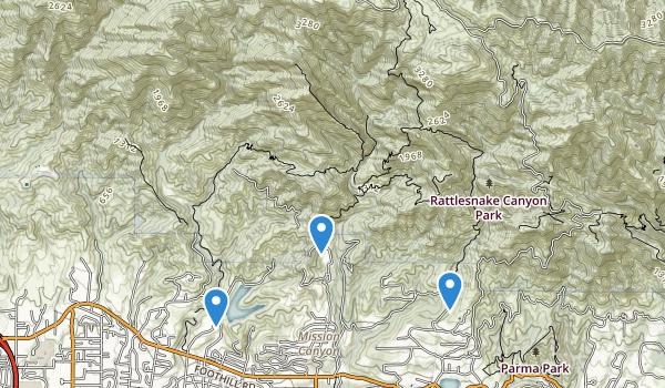 Rattlesnake Canyon Park Map