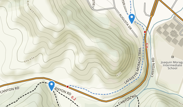 trail locations for EBMUD Valle Viata Staging Area