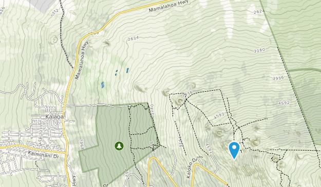 Honuaula Forest Reserve Map