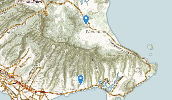 Waimanalo District Park Map