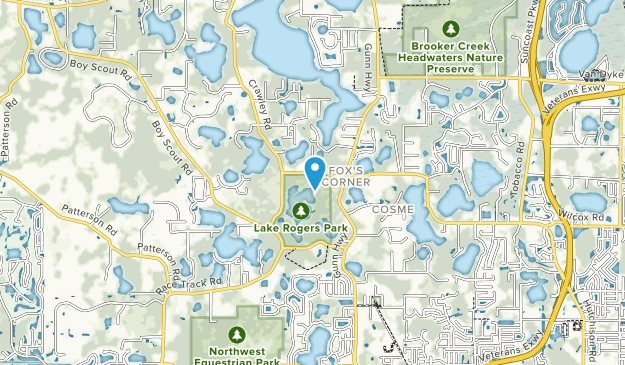 Parque Lake Rodgers Map