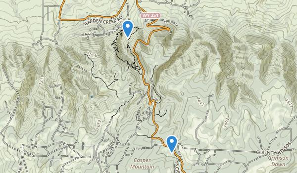 trail locations for Casper Mountain County Park