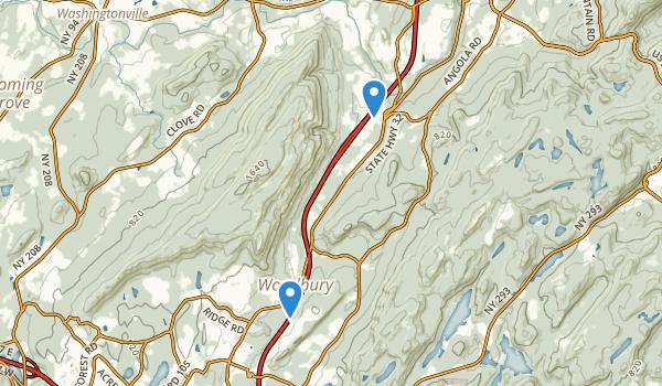 trail locations for Schunnemunk Mountain