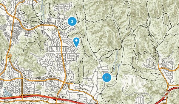 Cheeseboro/Palo Comado Canyons Map