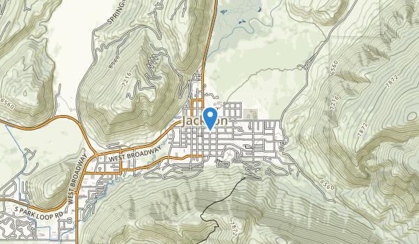 Gros Ventre Wilderness Map