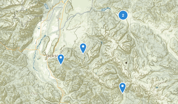Gros Ventre Wilderness Map