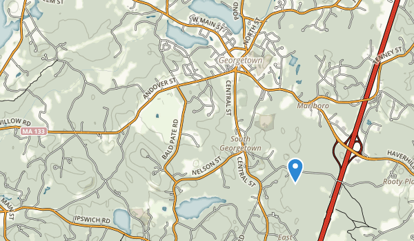 trail locations for Lufkins Brook Conservation Area