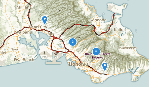 Honolulu Watershed Forest Reserve Map