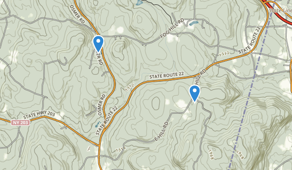 Harvey Mountain State Forest Map