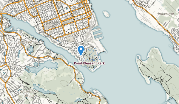 trail locations for Point Pieasant Park