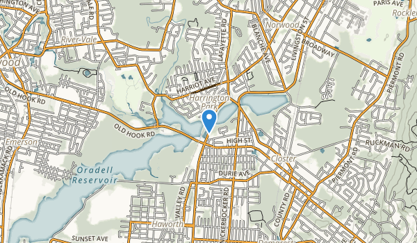 trail locations for Harrington Park