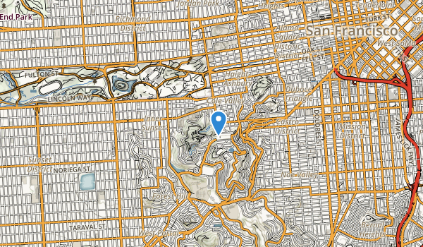 Mt Sutro Open Space Reserve Map