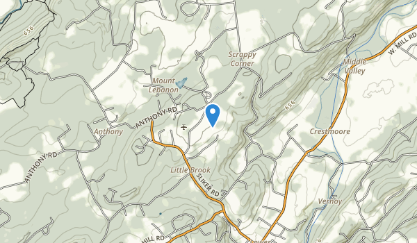 Teetertown Ravine Nature Preserve Map