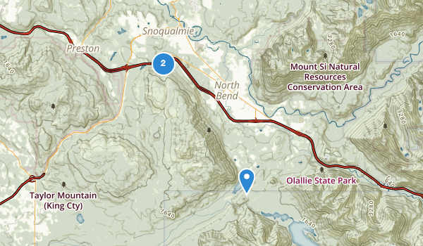 trail locations for Rattlesnake Mountain Scenic Area