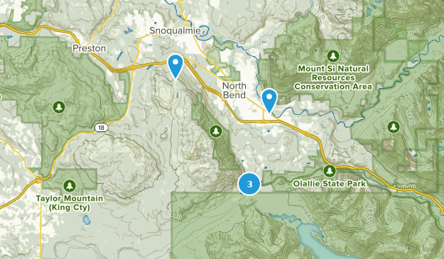 Klapperschlangen-Gebirgslandschaft Map