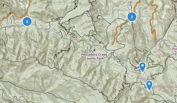 Pescadero Creek County Park Map