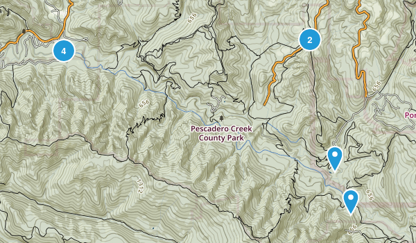 Pescadero Creek County Park Map