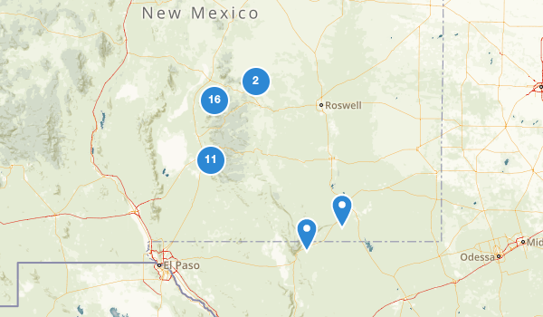 trail locations for Lincoln National Forest