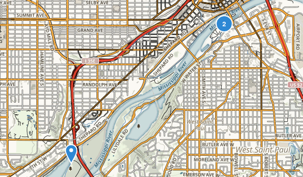 Harriet Island Regional Park Map