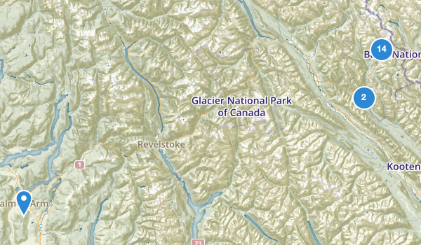 trail locations for Yoho National Park