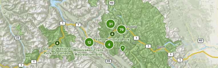 Canada Map British Columbia Yohoo National Park Best trails in Yoho National Park, Canada | AllTrails