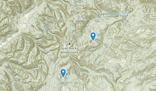 trail locations for Goat Rocks Wilderness