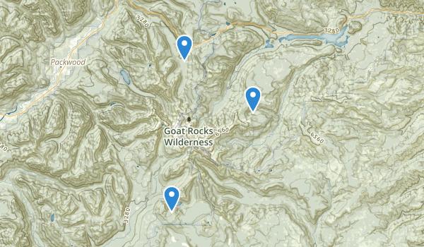 Goat Rocks Wilderness Map