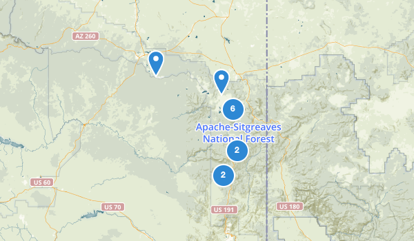 trail locations for Apache Sitgreaves National Forest