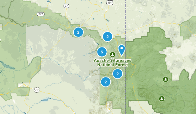 Apache Sitgreaves National Forest Map