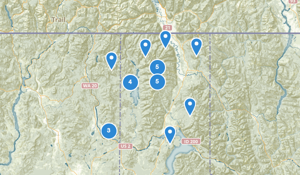 trail locations for Kaniksu National Forest