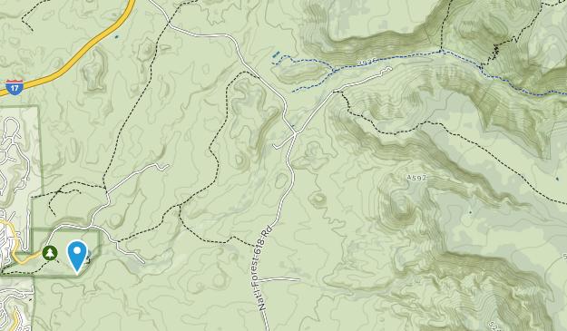 Monumento Nacional Pozo Montezuma Map