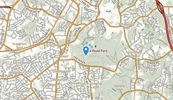 trail locations for Reedy Creek Park