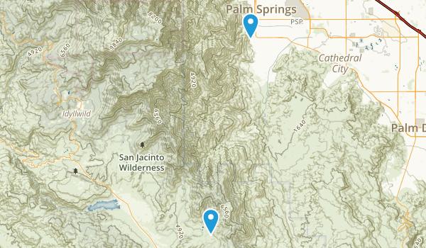 Agua Caliente Park Map