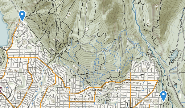 trail locations for Malaspina Park