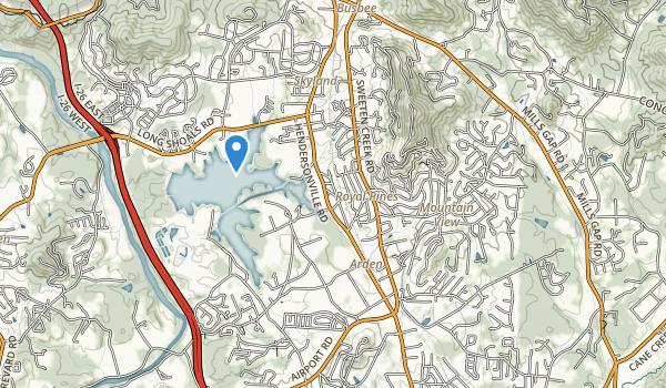 trail locations for Lake Jujian Park