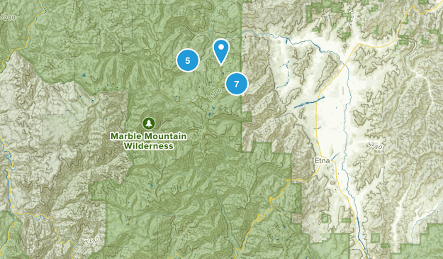 Marble Mountain Wilderness Map