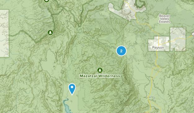 Mazatzal Wilderness Map