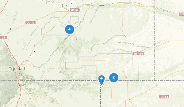 trail locations for Comanche National Grassland