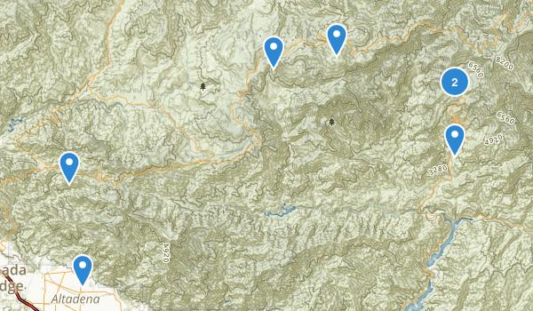 San Gabriel Wilderness Map
