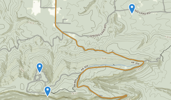 trail locations for Mt Magazine State Park