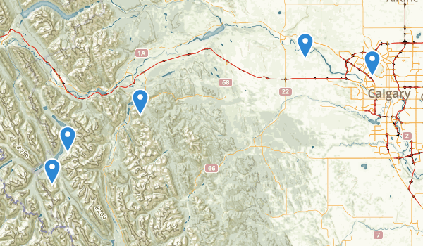 trail locations for Spray Valley Provincial Park