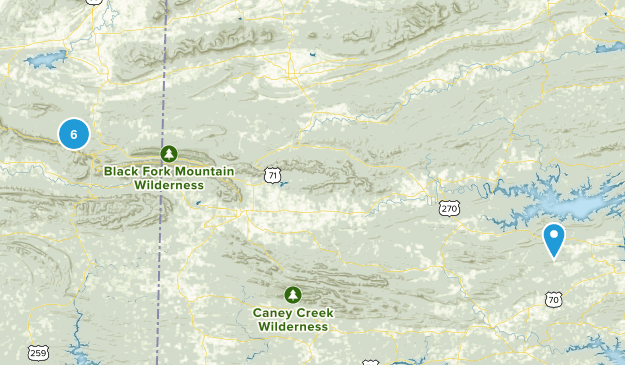 Ouachita National Forest Map