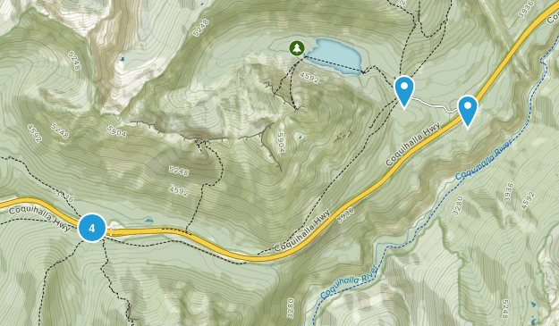 Coquihalla Summit Recreation Area Map