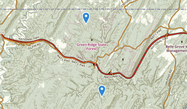 Green Ridge State Forest Map