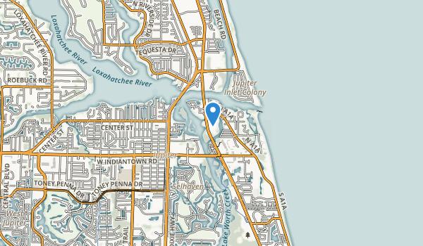Jupiter Beach Country Park Map
