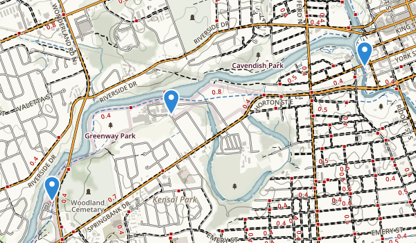 trail locations for Greenway Park