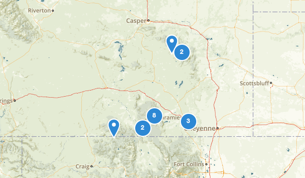 trail locations for Medicine Bow National Forest
